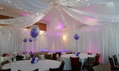 White Wall Drapes Venue Dressing Windsor Wrasbury
