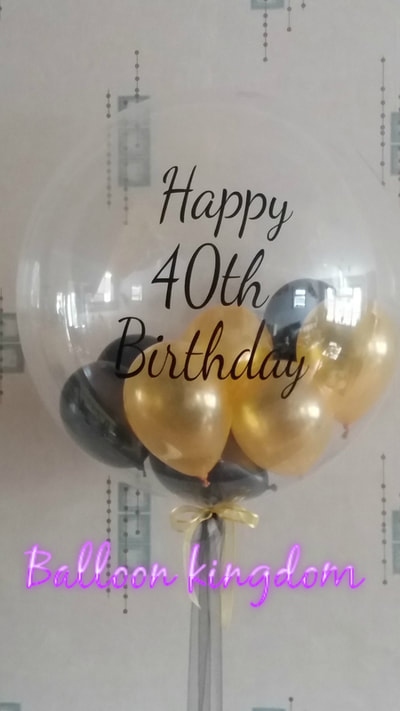 personalised 40th birthday balloon