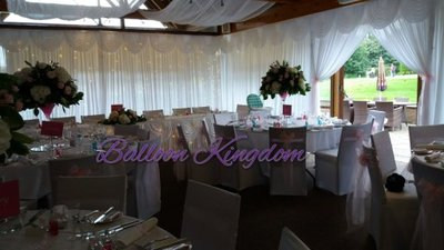 white wall drapes at Richings park golf club