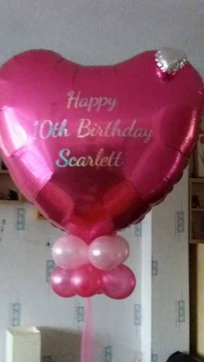 giant foil heart personalised balloon