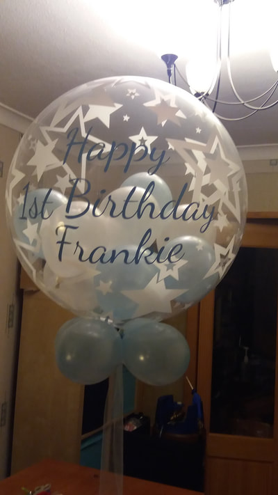 personalised 1st birthday balloon