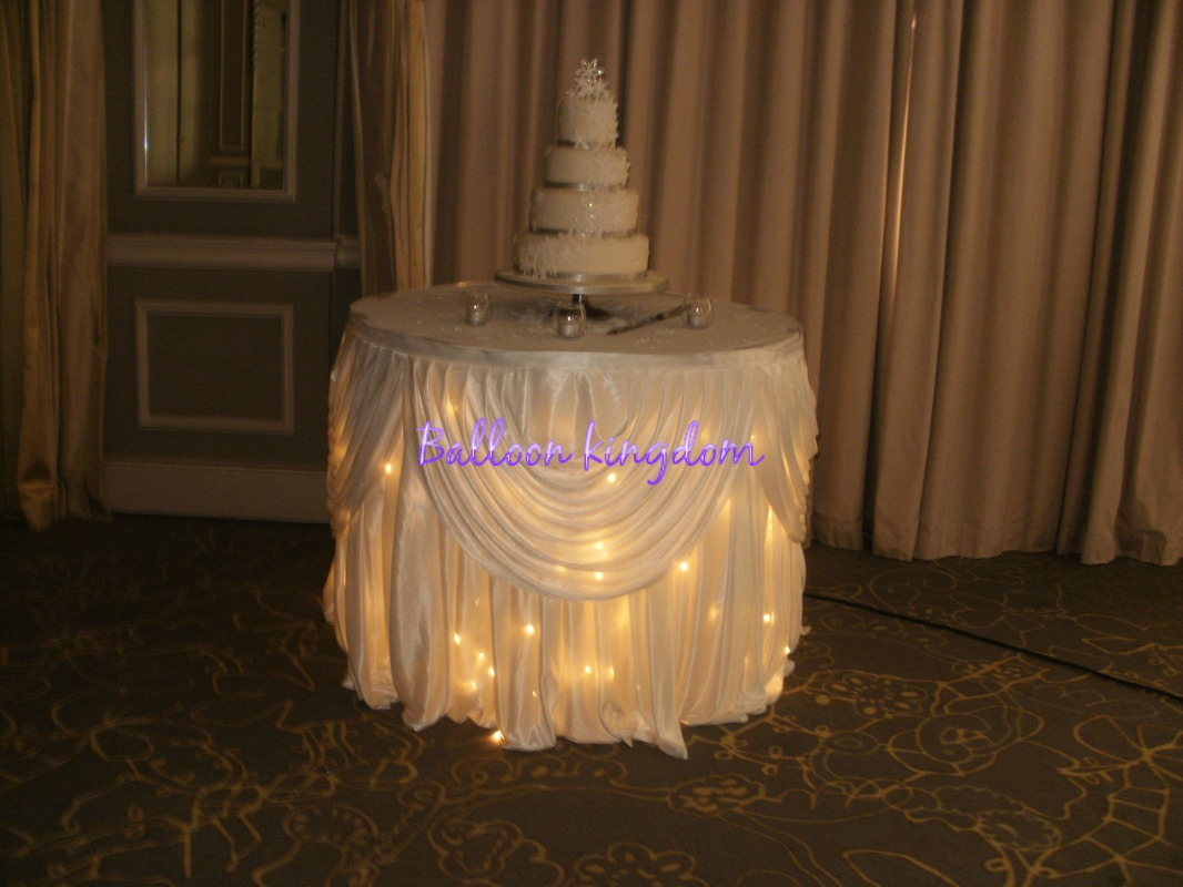 10ft Starlight Cake/gift Table Skirt With Detachable Swags. Complete Your  Fairy Tale Theme With This Stunning Skirt And Swags, The Swag Is Detachable  And ...