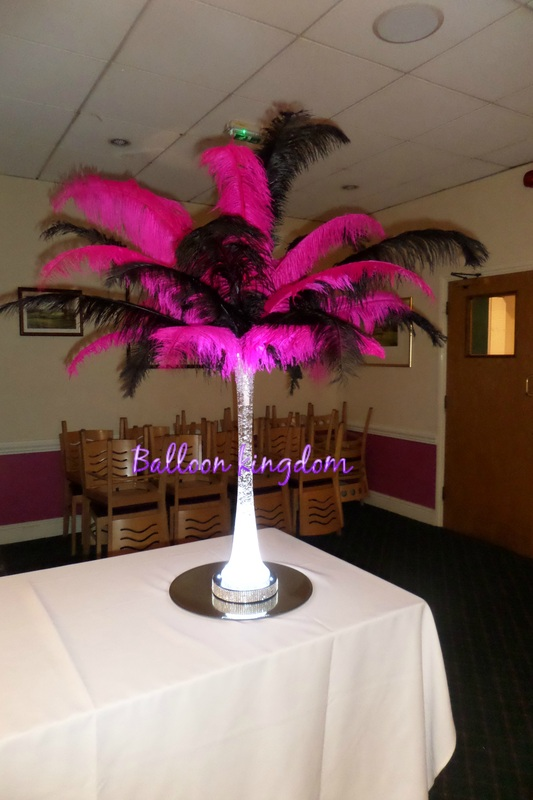 Ostrich Feather Centerpiece Hire Balloon Kingdom