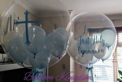 boys 1st holy communion personalised balloon