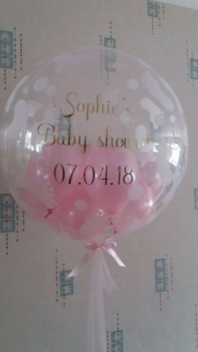personalised baby shower bubble balloon