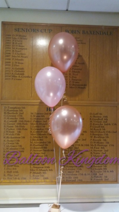 rose gold and light pink balloon cluster