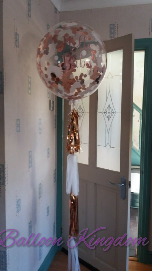 confetti bubble balloon with tassel tail